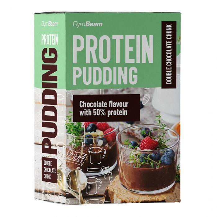 GymBeam Protein Pudding double chocolate chunk 500 g