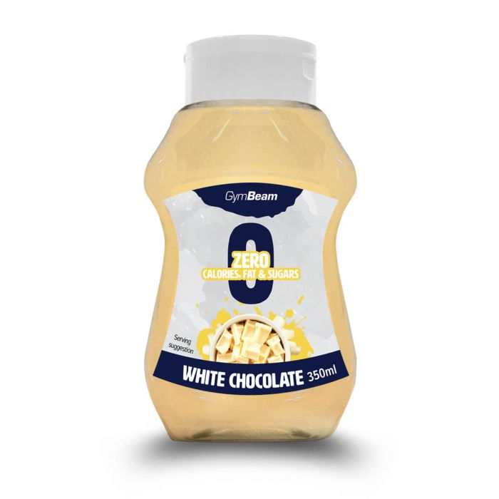 GymBeam Bezkalorický sirup White Chocolate 350ml